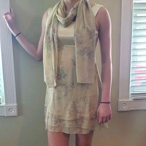 VINTAGE CDC Pale Yellow / Floral Dress